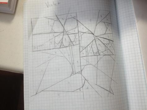 Sketching designs old school style.