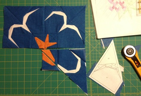 The third block of circling gulls has been patiently waiting in a state of in-completion.