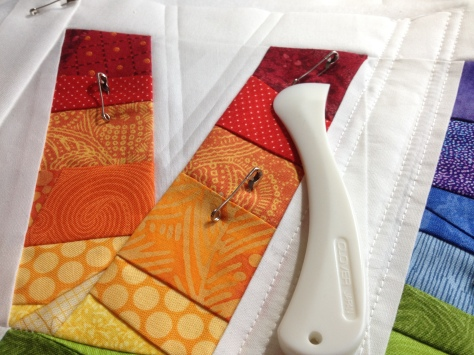 Herra markers are the best for marking quilts for straight line quilting.