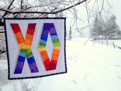 rainbow xo quilt