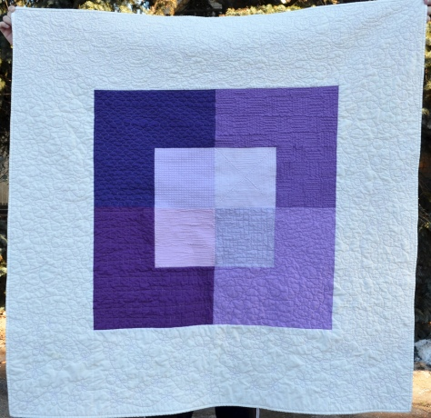 Radiant Orchid Color study with the Canvas pattern by Leanne at She Can Quilt.