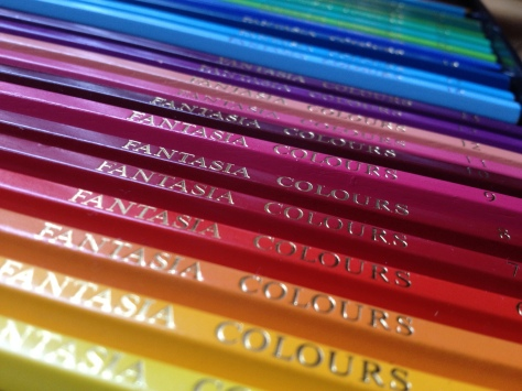 Colored pencils aesthetically arranged
