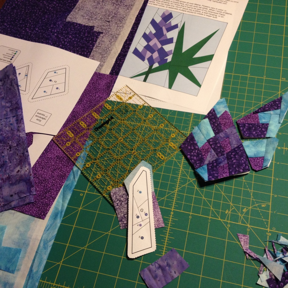 Friday Finish: Lupine, a Foundation Paper Piecing Pattern (4/6)