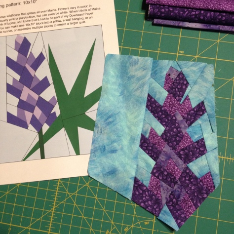 Lupine paper piecing progress