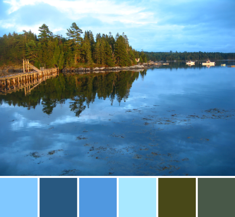 Summer blue color palette