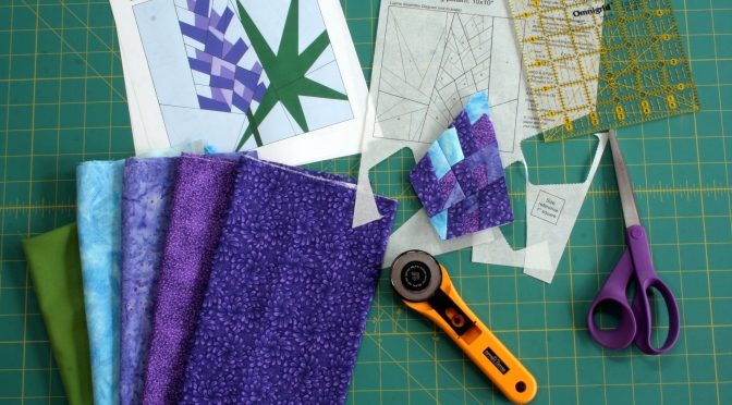 Work in Progress: Lupine Paper Piecing Pattern