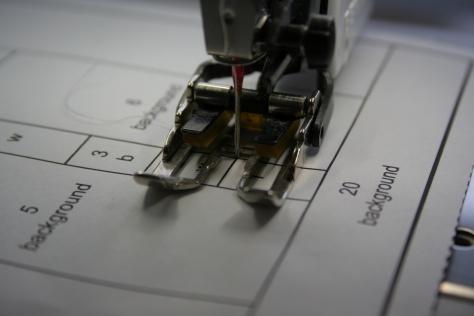 sew along line