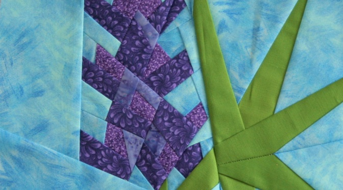 paper pieced lupine quilt block