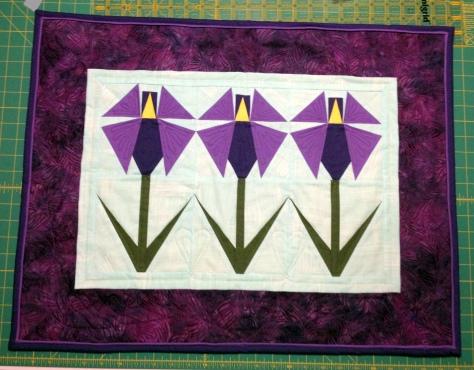 June's Irises - Front