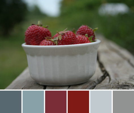 strawberries color palette