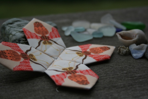 Beach rainy day sewing patchwork of the crosses