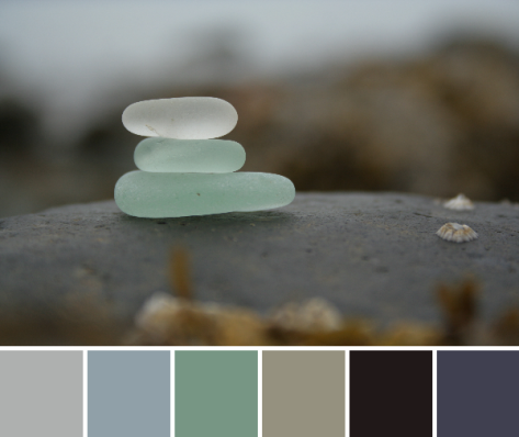 sea glass maine coast color palette