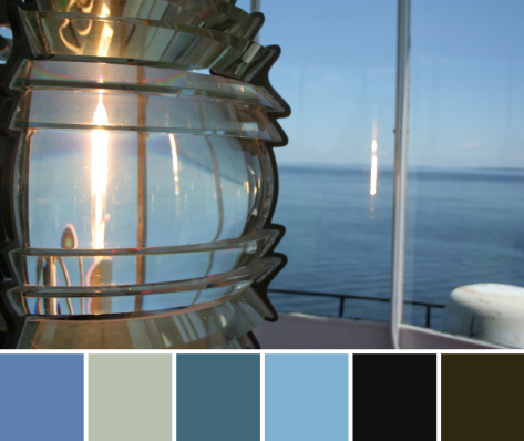 owls head lighthouse light color palette