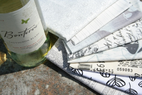 wine and fabric pairing sauvignon blanc and low volumes