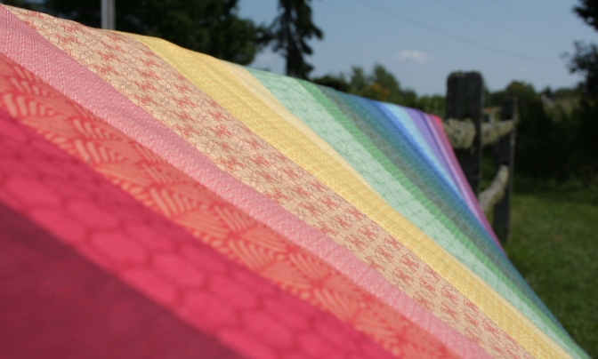 Friday Finish: Rainbow Jellyroll Quilt Top
