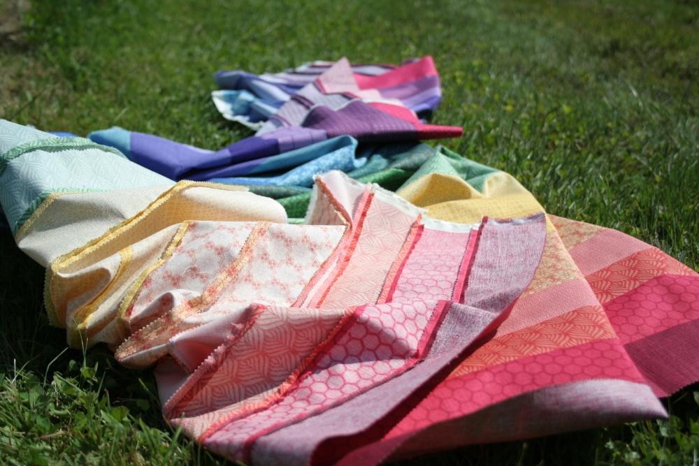 Friday Finish: Rainbow Jellyroll Quilt Top (5/6)