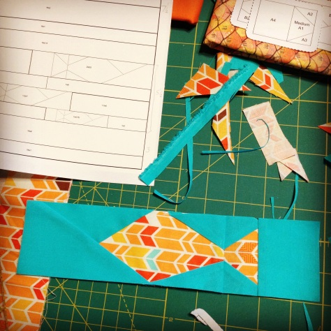 paper piecing pattern test fish