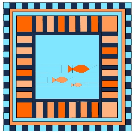 fishies baby quilt schematic