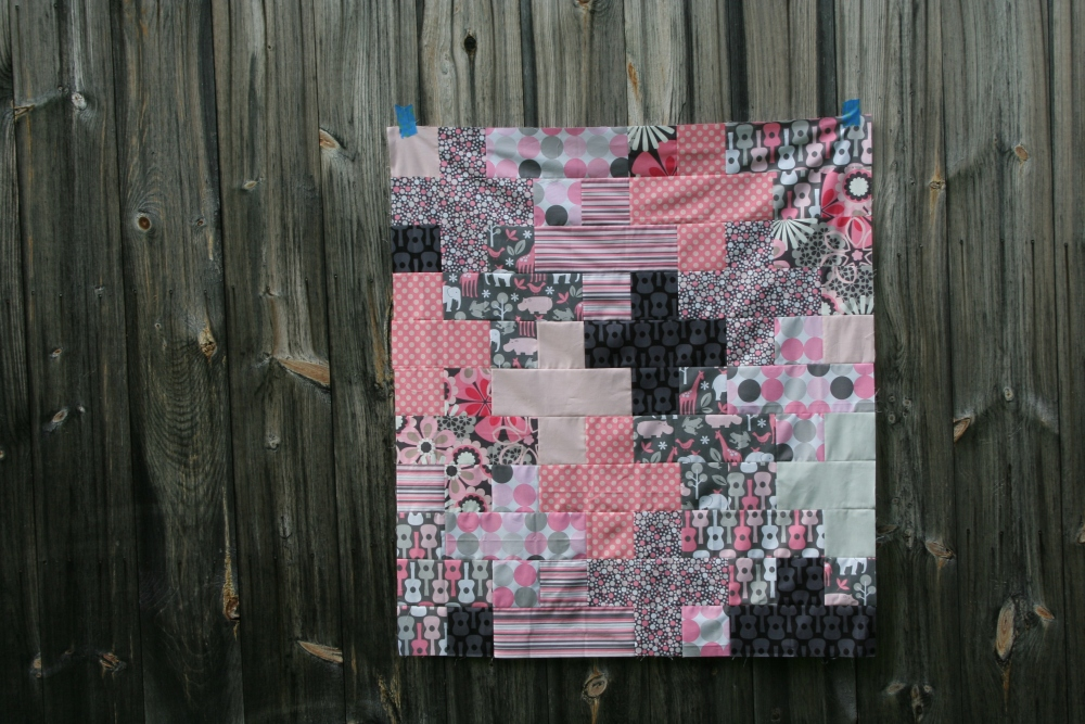 Friday Finish: Pink & Grey Baby Plus Quilt (1/6)
