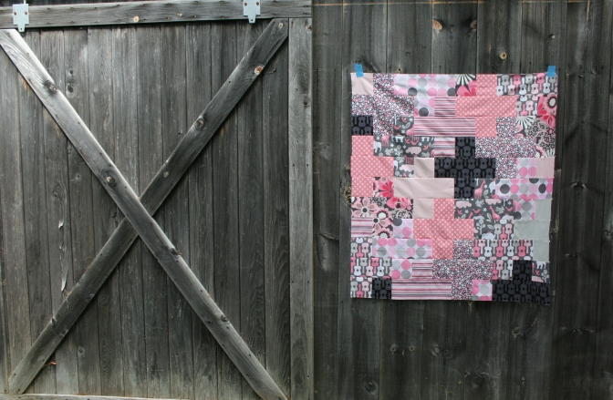 Friday Finish: Pink & Grey Baby Plus Quilt