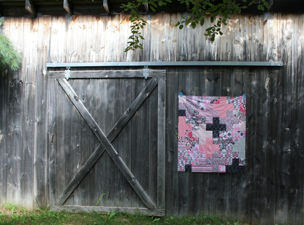 Friday Finish: Pink & Grey Baby Plus Quilt (2/6)