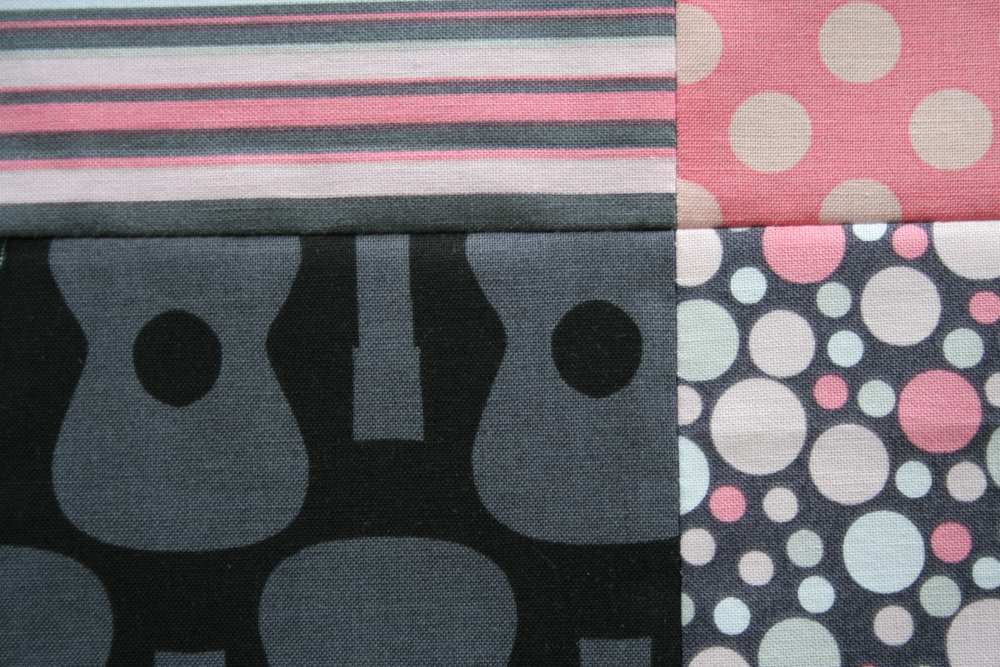 Friday Finish: Pink & Grey Baby Plus Quilt (3/6)