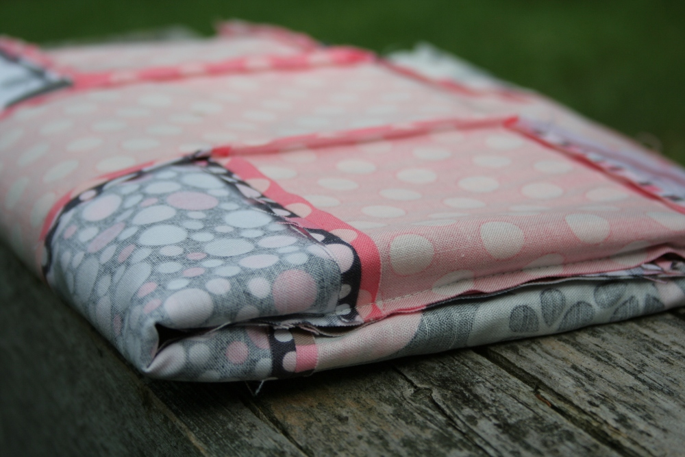 Friday Finish: Pink & Grey Baby Plus Quilt (5/6)
