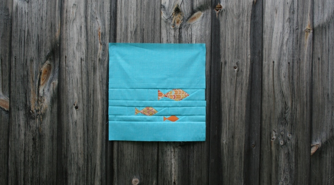 Friday Finish: Fishies FPP Panel Pattern