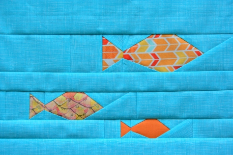 foundation paper piecing fish panel pattern