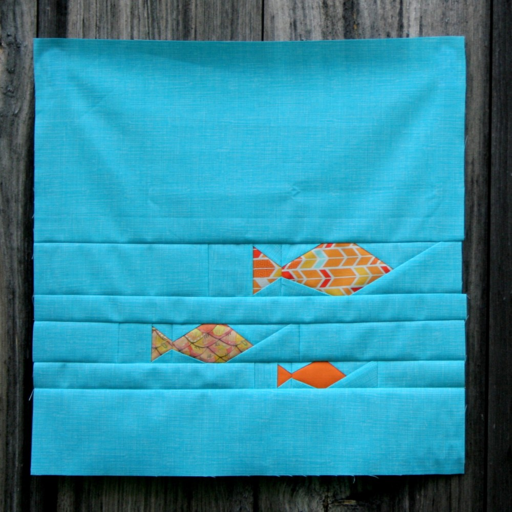 Friday Finish: Leaf and Fishies Rainbow Row Patterns (5/6)