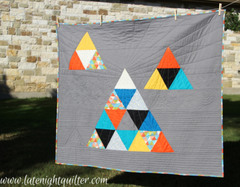 late night quilter love triangle pattern and longarm intro