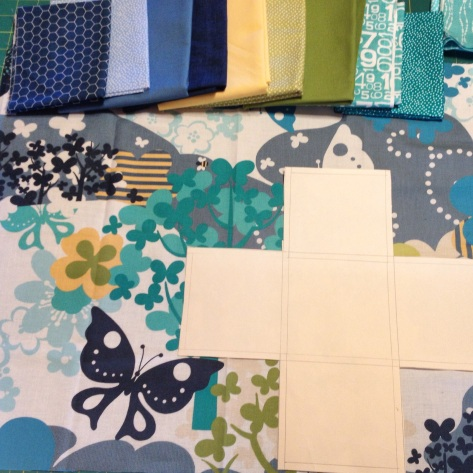 fabric pull for baby plus quilt
