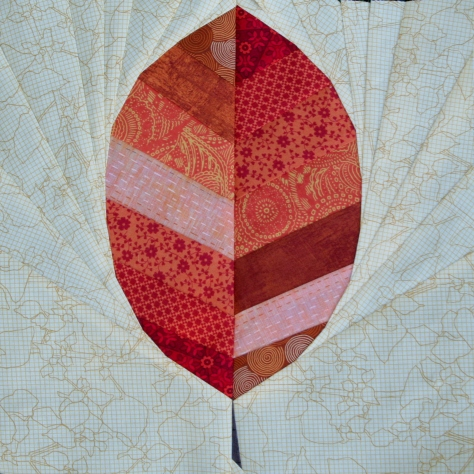 Leaf paper piecing pattern