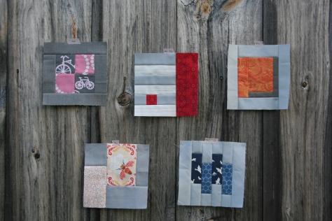 BOM progress modern quilt block