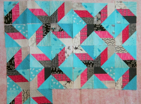 star crazy quilt progress