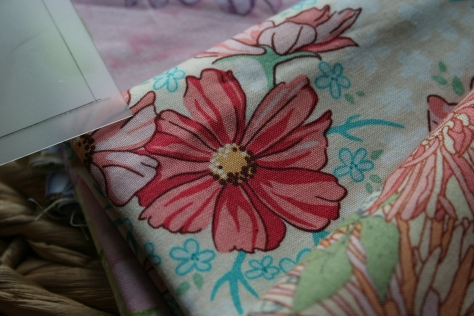 big fabric flower fussy cut