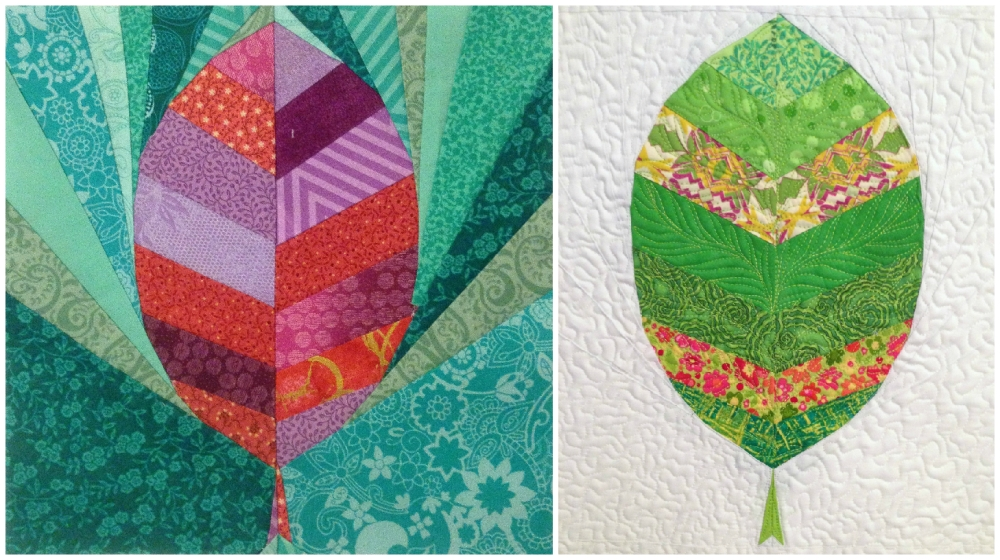 Friday Finish: Leaf and Fishies Rainbow Row Patterns (4/6)