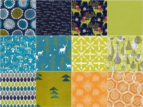 folksy fall fabric bundle #2