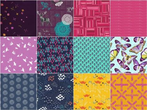 folksy fall fabric mosaic #1
