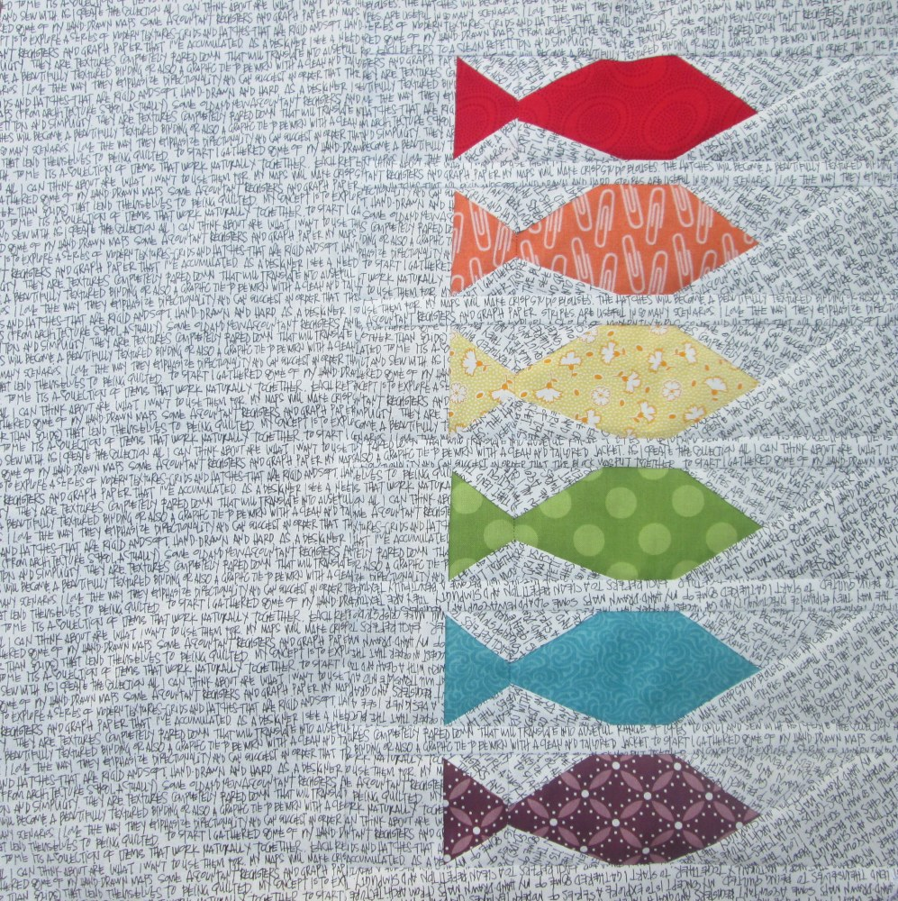 Friday Finish: Leaf and Fishies Rainbow Row Patterns (6/6)