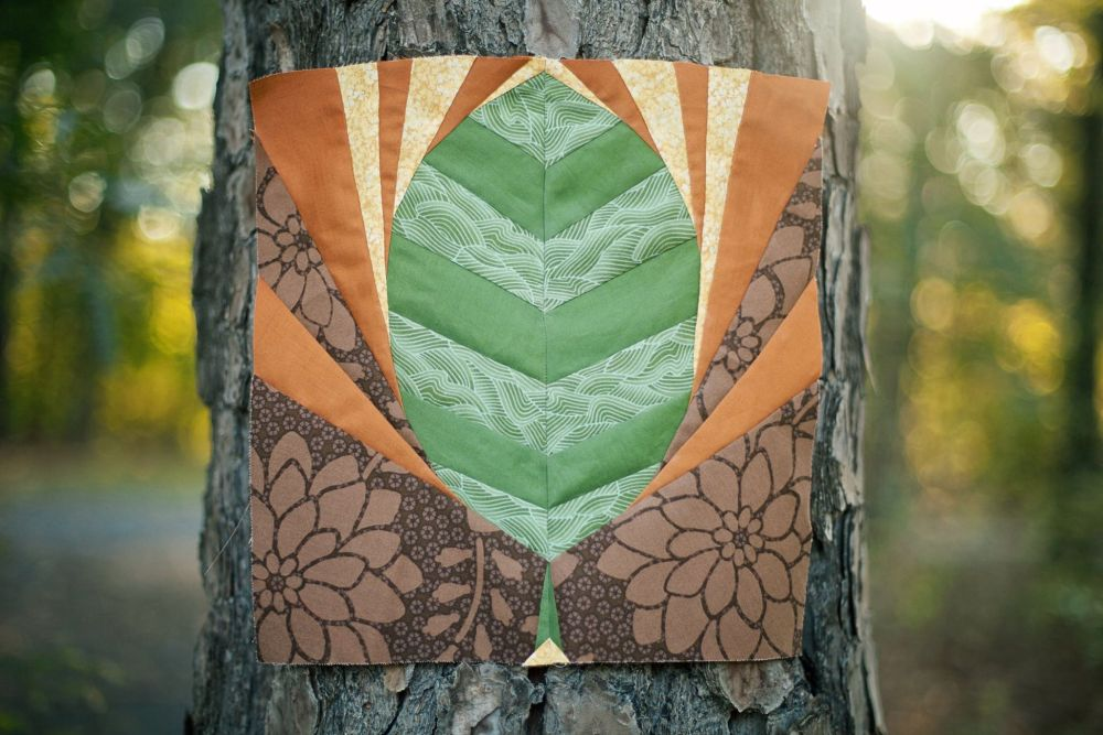 Friday Finish: Leaf and Fishies Rainbow Row Patterns (3/6)