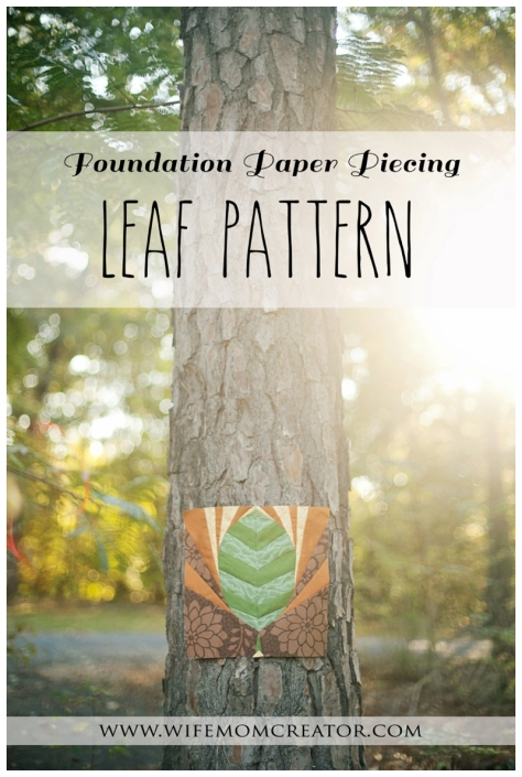 foundation paper piecing pattern giveaway leaf