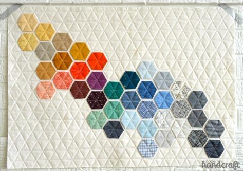 modern handcraft modern hexies quilt