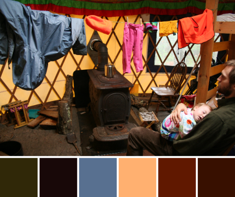 colorful yurt color palette