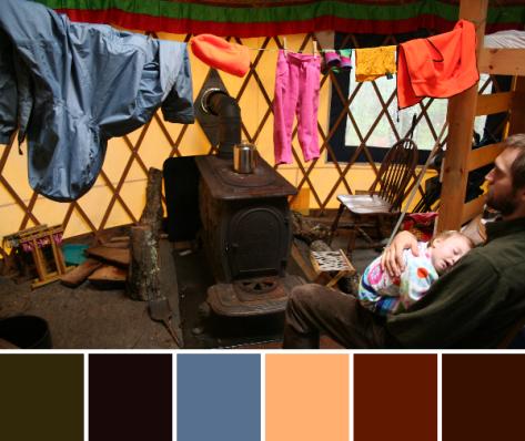 colorful yurt color palette