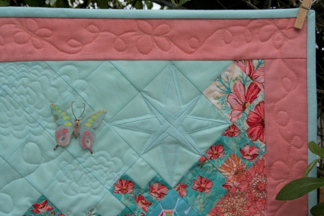 paper pieced star butterfly quilt garden