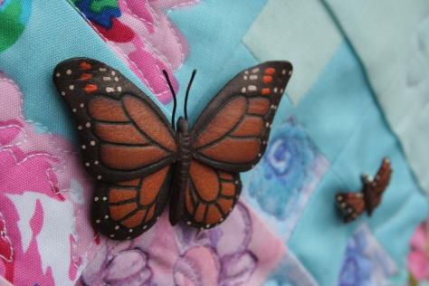 butterfly pins garden quilt