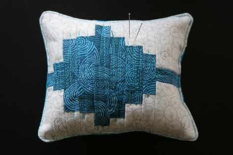 tremolo sound wave quilt pincushion