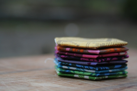 rainbow stack of hexagons