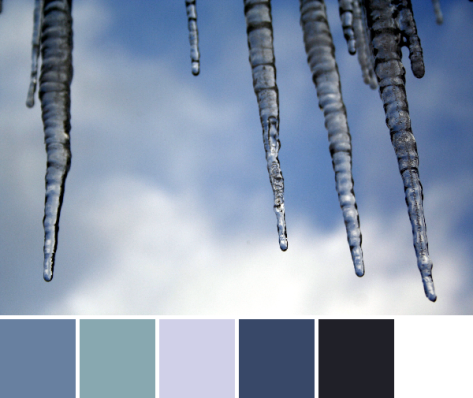 blue sky icicles color palette